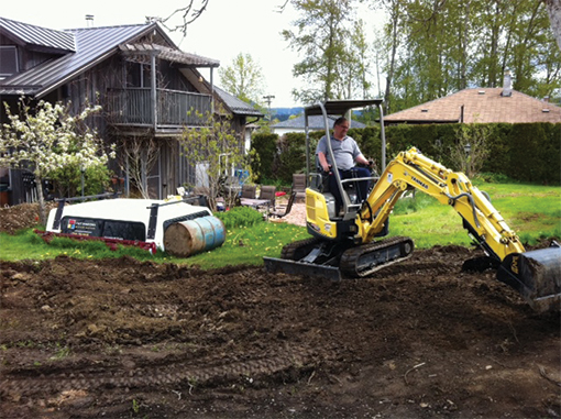 The Dirty Digger offers grading and leveling services