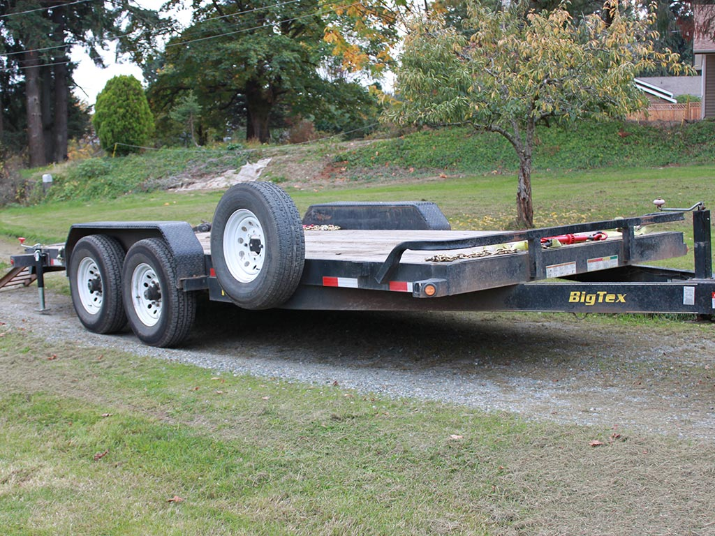 Dirty Digger Contracting Services - Hauling Trailer